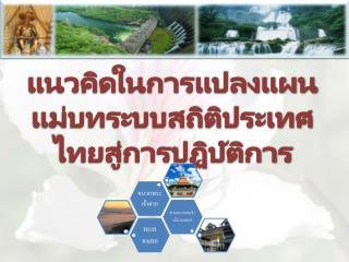 แนวคิดในการแปลงแผนแม่บทระบบสถิติประเทศไทยสู่การปฏิบัติการ