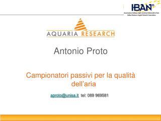 Antonio Proto Campionatori passivi per la qualità dell'aria