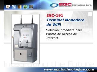 EGC-191 Terminal Monedero de WiFi