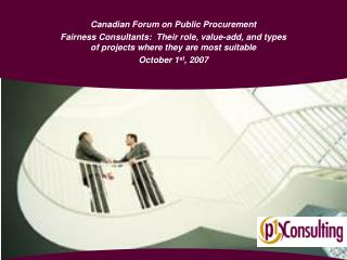 Canadian Forum on Public Procurement