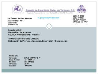 Ing. Osvaldo Martínez Mendoza