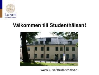 Välkommen till Studenthälsan!