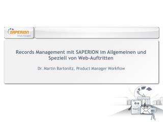 Records  Management mit SAPERION im Allgemeinen und Speziell von Web-Auftritten