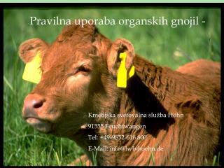 Pravilna uporaba organskih gnojil -