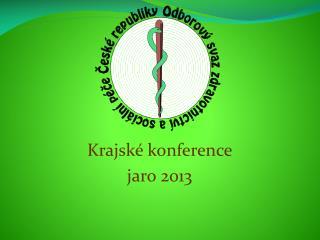 Krajské konference  jaro 2013