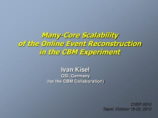 Many-Core Scalability of the Online Event Reconstruction in the CBM Experiment
