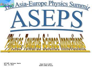 The Asia-Europe Physics Summit