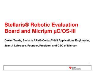 Stellaris  Robotic Evaluation Board and Micri m  C