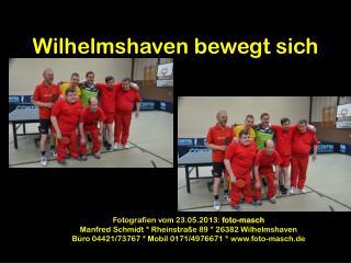 Wilhelmshaven bewegt sich