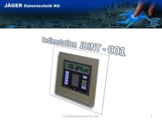 Bedienstation  JDINT - 001