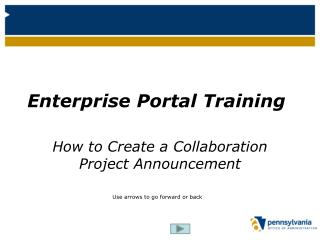 Enterprise Portal Training