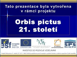 Orbis  pictus 21. stolet�