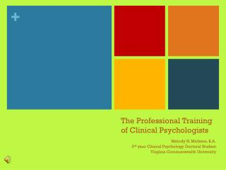 The Professional Training of Clinical Psychologists