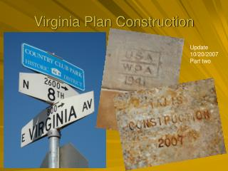 Virginia Plan Construction