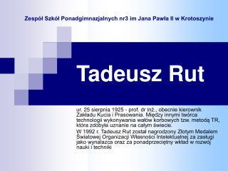 Tadeusz Rut