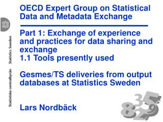 OECD Expert Group on Statistical Data and Metadata Exchange