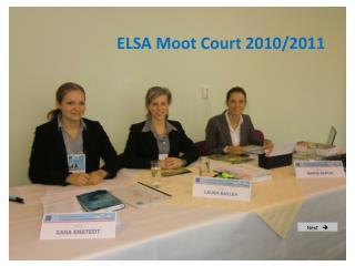 ELSA Moot Court 2010/2011