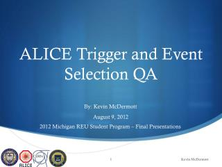 ALICE Trigger and Event Selection QA