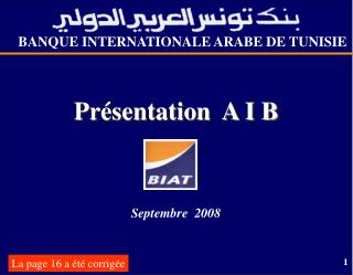 BANQUE INTERNATIONALE ARABE DE TUNISIE