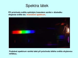 Spektra látek