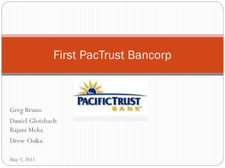 First PacTrust Bancorp