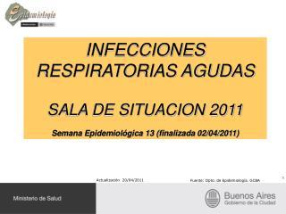 INFECCIONES RESPIRATORIAS AGUDAS SALA DE SITUACION 2011