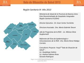 Regi�n Sanitaria IX- A�o 2013