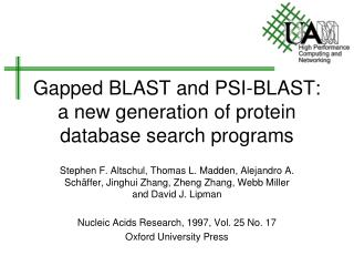 Gapped BLAST and PSI-BLAST: a new generation of protein database search programs