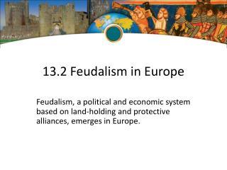 13.2 Feudalism in Europe