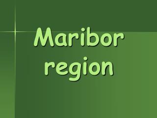 Maribor region