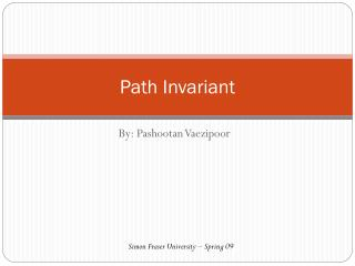 Path Invariant