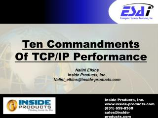 Ten Commandments Of TCP/IP Performance