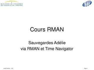 Cours RMAN