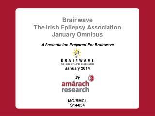 Brainwave  The Irish Epilepsy Association January Omnibus A Presentation Prepared For  Brainwave