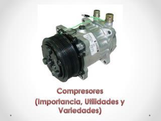 Compresores (Importancia, Utilidades y Variedades)