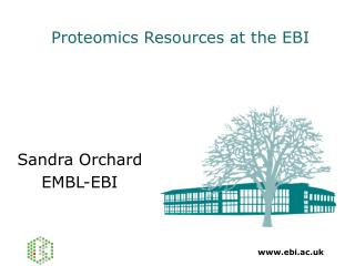 Proteomics Resources at the EBI