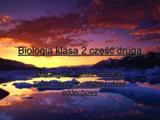 Biologia klasa 2 część druga