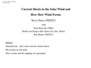 Current Sheets in the Solar Wind and  How Slow Wind Forms