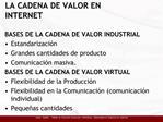LA CADENA DE VALOR EN INTERNET