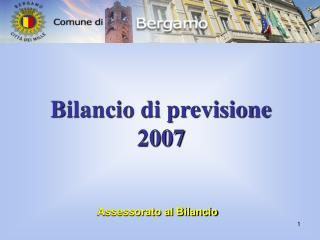 Bilancio di previsione  2007