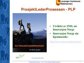 ProsjektLederProsessen - PLP