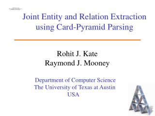 Joint Entity and Relation Extraction using Card-Pyramid Parsing