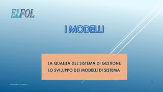 I  Modelli