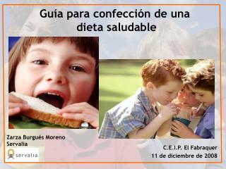 Gu�a para confecci�n de una  dieta saludable