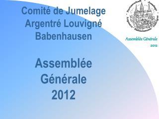 Comité de Jumelage Argentré Louvigné Babenhausen Assemblée Générale 2012