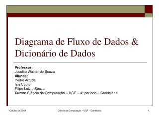 Diagrama de Fluxo de Dados & Dicionário de Dados