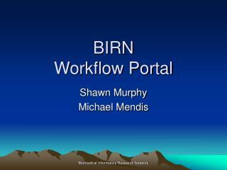 BIRN Workflow Portal
