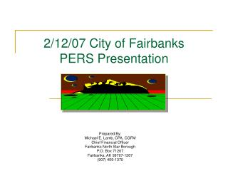2/12/07 City of Fairbanks PERS Presentation