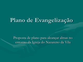 Plano de Evangelização