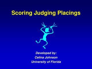 Scoring Judging Placings